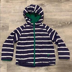 Boden boys striped rain coat size 4-5 years